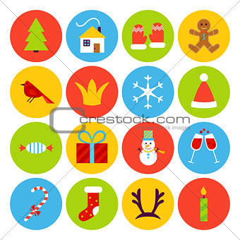 Flat New Year Icons