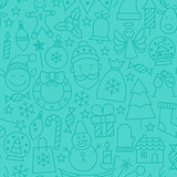 Line New Year Tile Blue Pattern