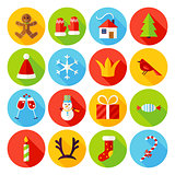 New Year Flat Icons