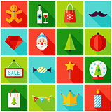 Merry Christmas Colorful Icons