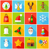 Winter Christmas Colorful Icons