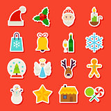 Winter Christmas Stickers