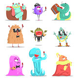 Monsters Attending Posh Glamorous Party