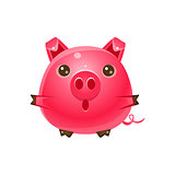 Pig Baby Animal In Girly Sweet Style