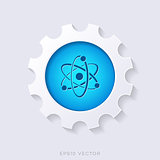 Blue vector science symbol concept