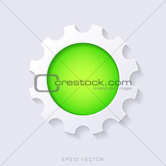 Green vector 3d web button