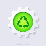Green vector recycle symbol concept