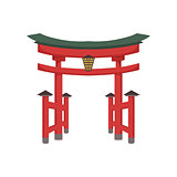 Temple Gate Japanese Culture Symbol
