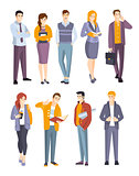 Young Professional Confident People Set