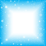 snow square abstract background
