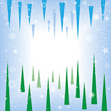 spruce icicle abstract background