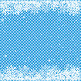 snow on blue transparent background