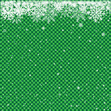 snow on green transparent background