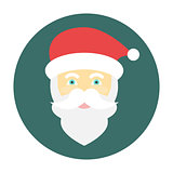 Santa Claus face icon flat