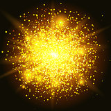 glitter particles background effect. Sparkling texture.