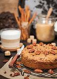 Delicious homemade pecan coffee cake