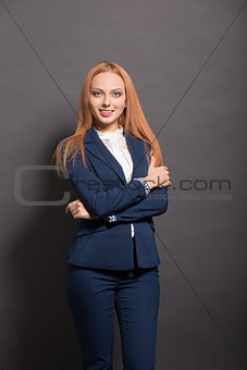 Business woman posing in studio