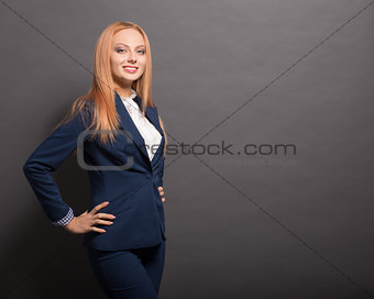 Business woman posing in studio