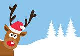Funny Reindeer Vector