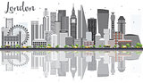 London Skyline with Gray Buildings