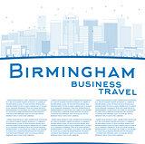 Outline Birmingham (Alabama) Skyline