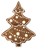 Gingerbread Christmas tree shape