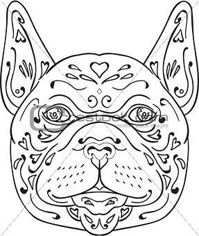 French Bulldog Head Mandala