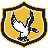 Mallard Duck Wings Landing Crest Retro