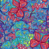 Seamless vector pattern with butterflies for textile, fabric or wallpaper.