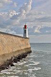 Red Lighthouse in Les Sables d'Olonne - France