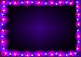 Purple Christmas Lights Background