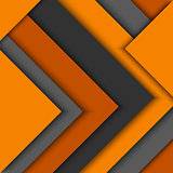 Abstract orange grey triangles background