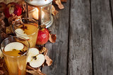 Hot apple cider background