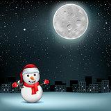 snowman stars moon sity