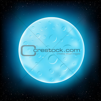 blue moon and space