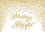Gold glitter confetti Christmas card