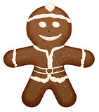 Christmas symbol - gingerbread man shape
