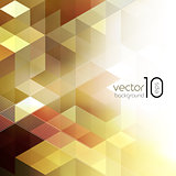 Vector abstract geometric background with cube
