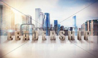 Business leadership view. 3d rendering