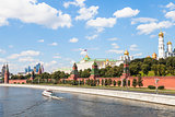 Moscow Kremlin and embankment along Moskva River