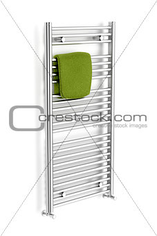Chrome towel radiator