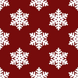Red snowflakes seamless