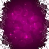 violet snowflakes frame