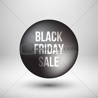 Black Friday Sale Bubble Badge