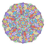 abstract colorful mandala