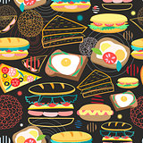 Seamless vector pattern sandwiches