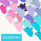 Halloween colorful ghost background