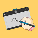 The graphics tablet, the necessary tool for creative people.