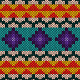 Seamless knitted multicolour geometric pattern