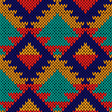 Seamless knitted multicolour geometric motley pattern